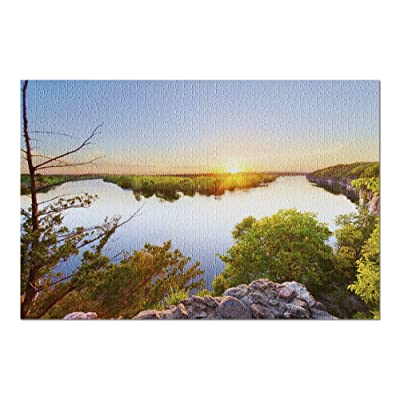 Osceola, Missouri - Sunset on The Sac & Osage Rivers at Truman Lake in The Ozarks 9005173 (Premium 1000 Piece Jigsaw Puzzle for Adults, 20x30, Made in USA!): Toys & Games