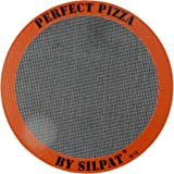 "Silpat AH305-01 Perfect Pizza Non-Stick Silicone Baking Mat, 12"" Round"