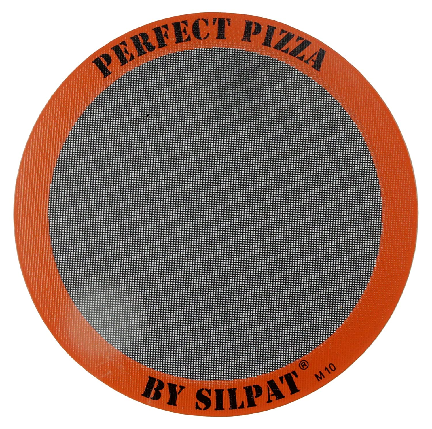 "Silpat Perfect Pizza Mat Silicone Baking, 12"", Orange"
