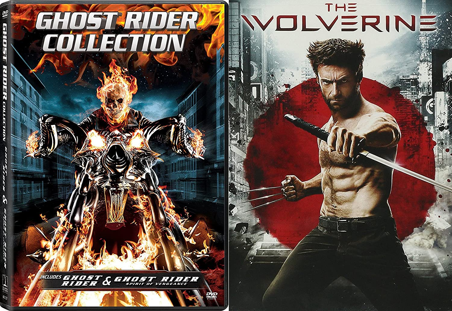Amazon com: The Wolverine & Ghost Rider Collection DVD