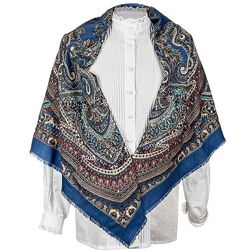 Daquela Modelo Neda - Pañuelo o mantón de lana para mujer