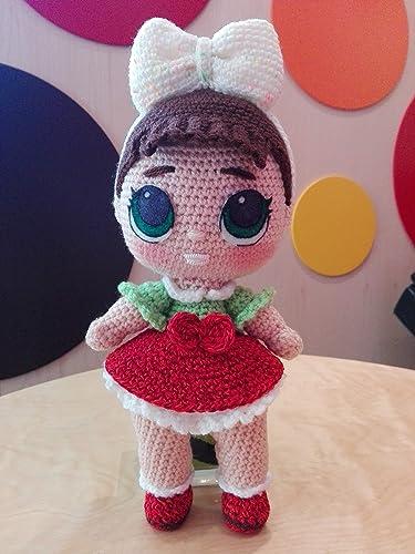 Bambola Tipo Lol Surprice Amigurumi Fatto A Mano Ad Uncinetto In