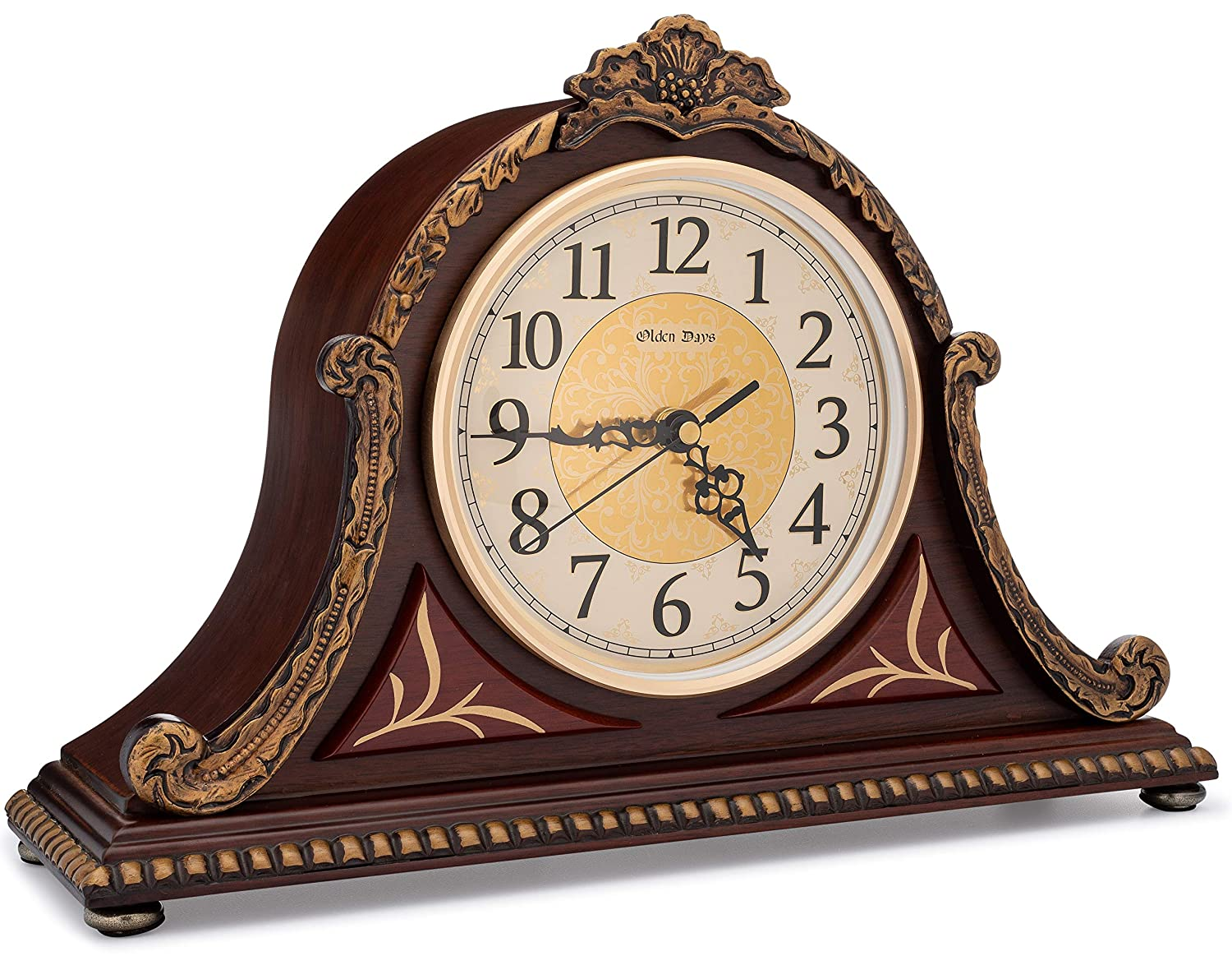 Antique Mantel Clocks >> Amazon Com Olden Days Mantel Clock With Real Wood 4 Chime Options