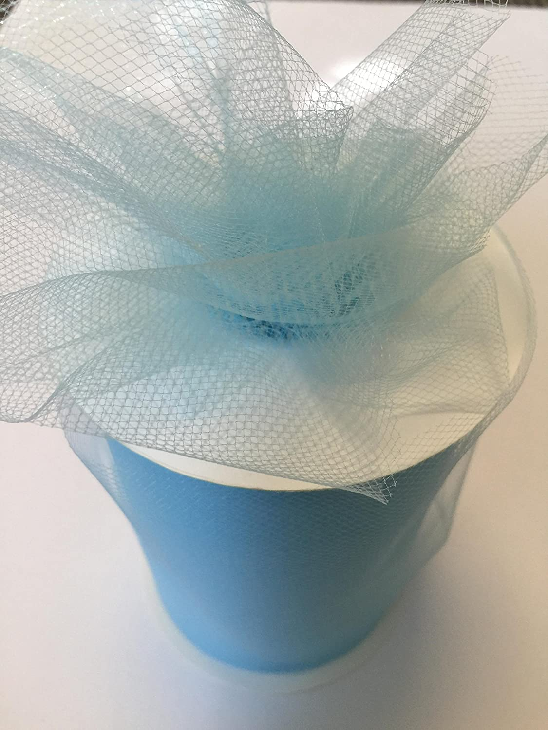 300 feet 34 Colors Available Tulle Fabric Spool//Roll 6 inch x 100 yards aqua On Sale Now!