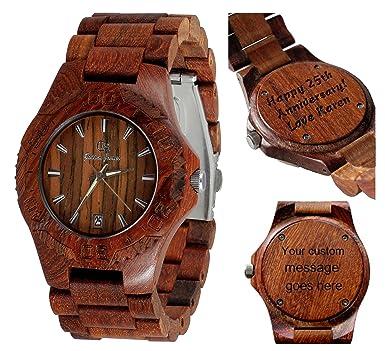 Wooden Watch-Wood Watch-Wood Engraving-Custom Engraving Watch-Christmas Gift -  sc 1 st  Amazon.com & Amazon.com: Wooden Watch-Wood Watch-Wood Engraving-Custom Engraving ...