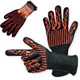 BBQ Gloves Extreme Heat Resistant 932°F Long Grilling Gloves KI Store for Oven baking Barbeque Tools