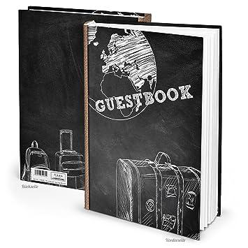 Noir Blanc Guest Book Livre D Or Pour Les Touristes