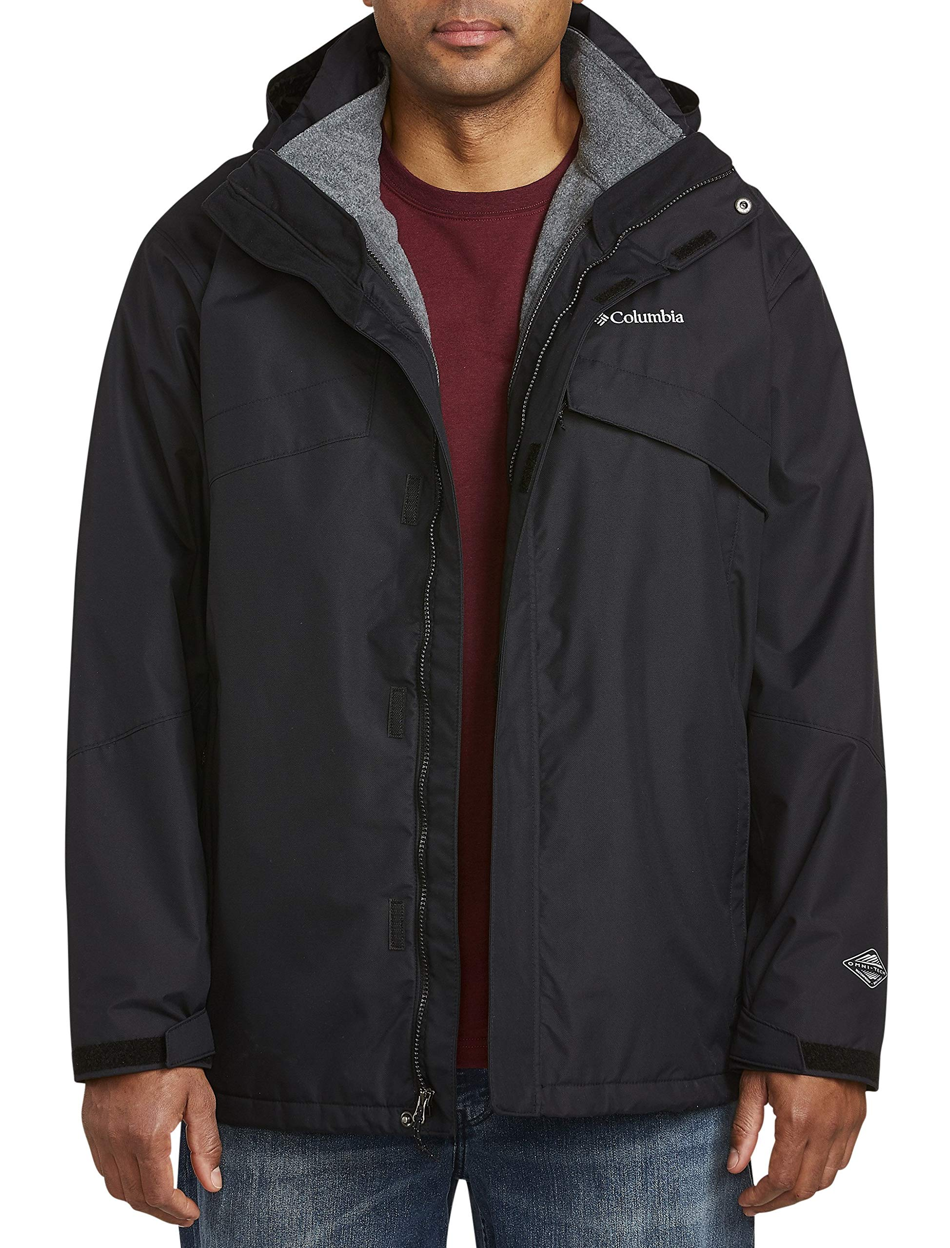 Columbia Big and Tall Bugaboo Interchange Jacket Black by Columbia