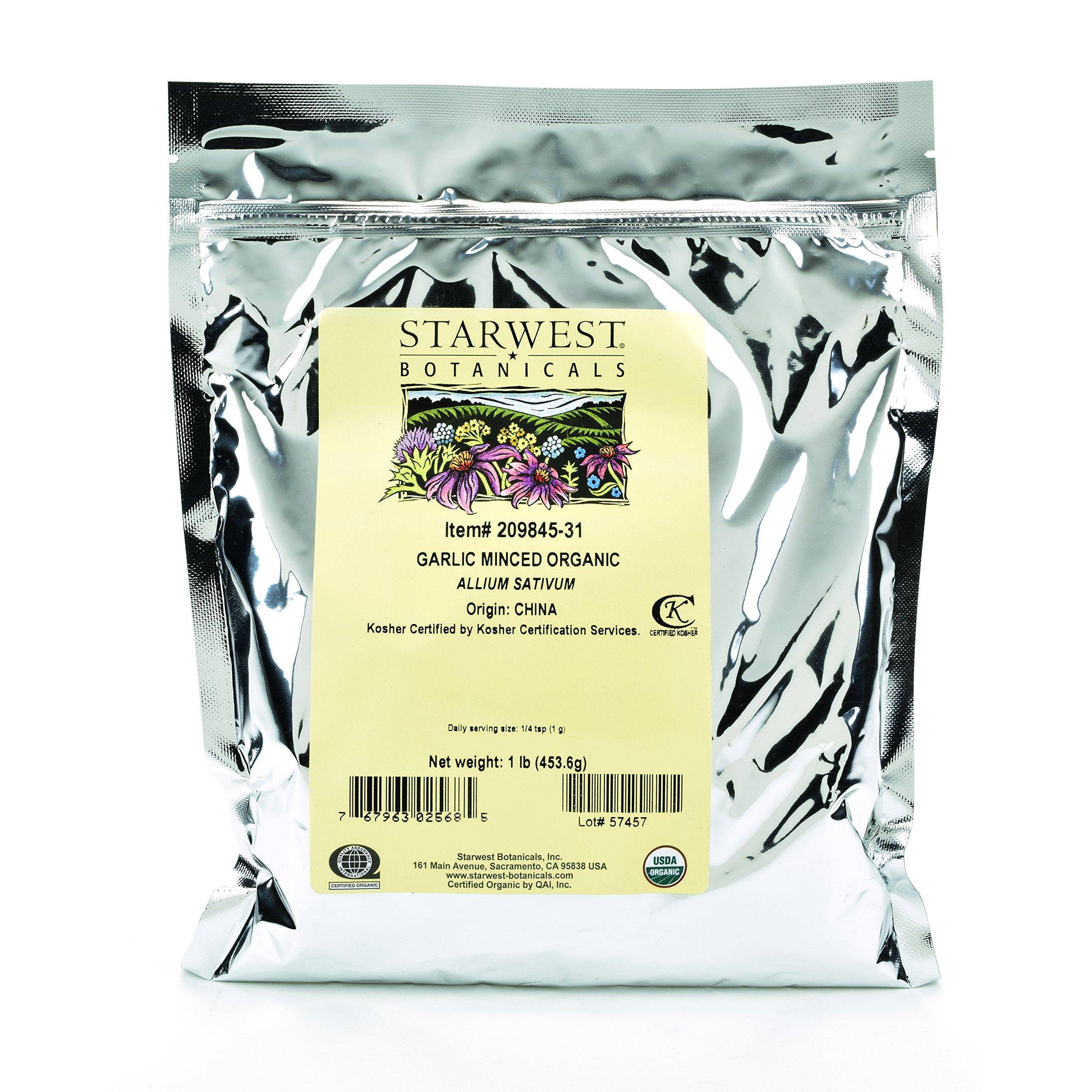 Starwest Botanicals Organic Garlic Minced, 1 Pound by Starwest Botanicals