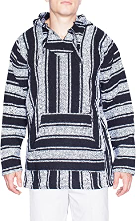Baja Toddlers Surf Hoodie Blue /& Black striped Pullover pocket in front sz 2-3T
