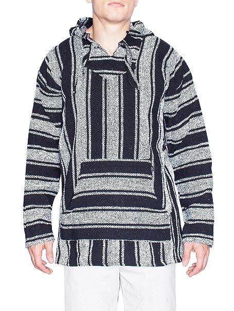 Brickline Baja Style Mens Fleece Poncho Hoodie Sweater
