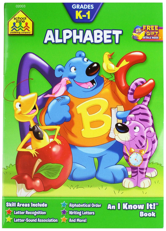 School Zone Curriculum Workbooks 32 Pages-Alphabet Grades K-1