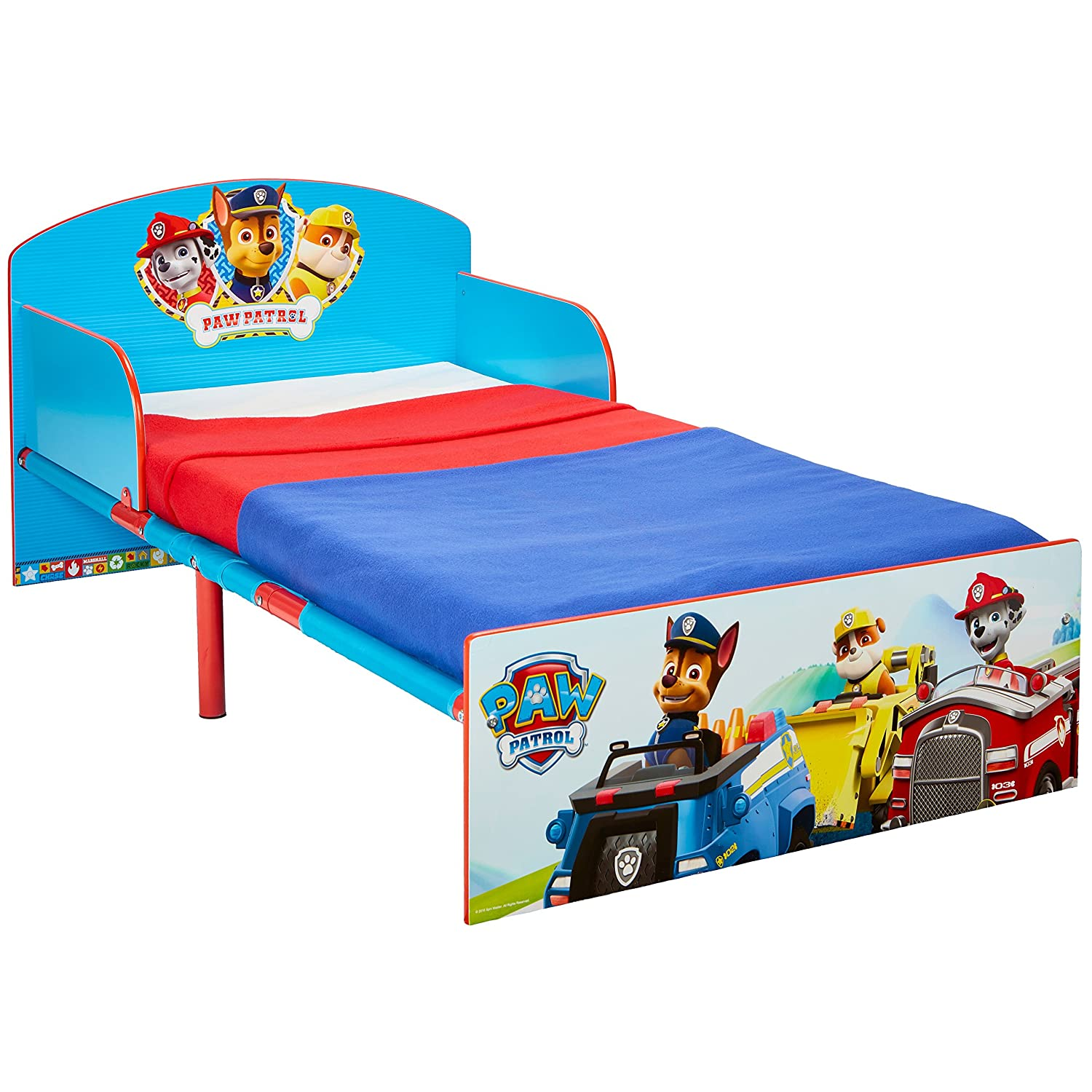 Paw Patrol Kids 505PWP Toddler Bed by HelloHome - Red/Blue Worlds Apart