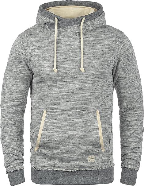 hellgrau meliert Gr BLEND Herren Sweatshirt mit Kapuze Hoodie Pullover XXL