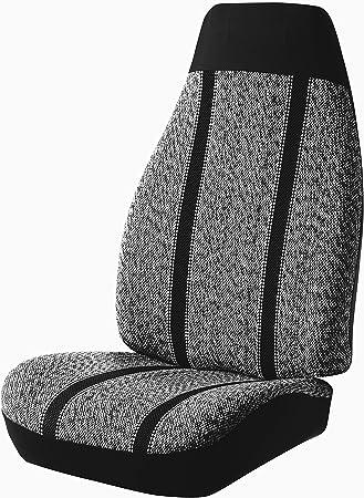 FIA TR49-46 Black Custom Fit Front Seat Cover Bucket Seats Saddle Blanket, Black