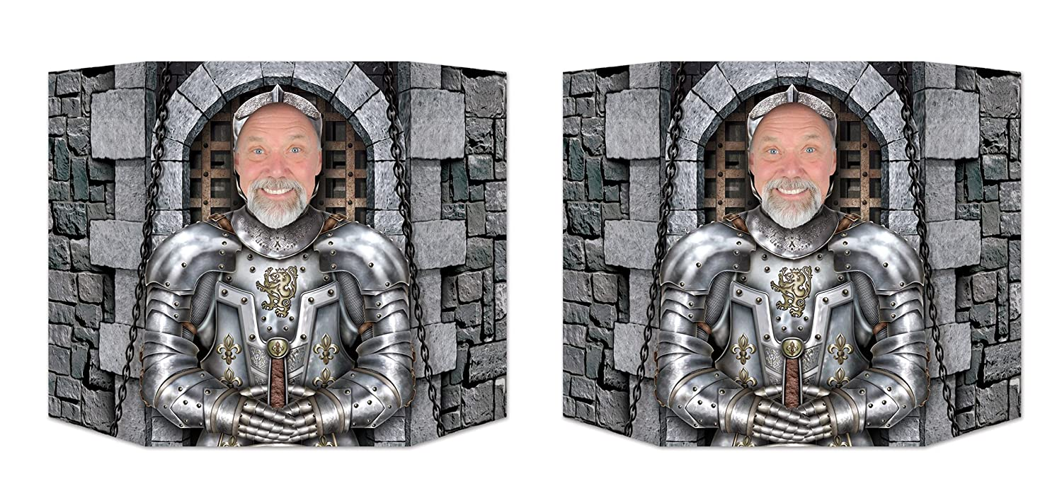 Beistle S54628AZ2 Knight Photo Props 37 x 25 Pack of 2