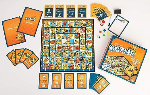 Ocachess - Juego de Mesa para Aprender AJEDREZ, Novedad La Forma más Divertida de Aprender ajedrez.: Amazon.es: Juguetes y juegos