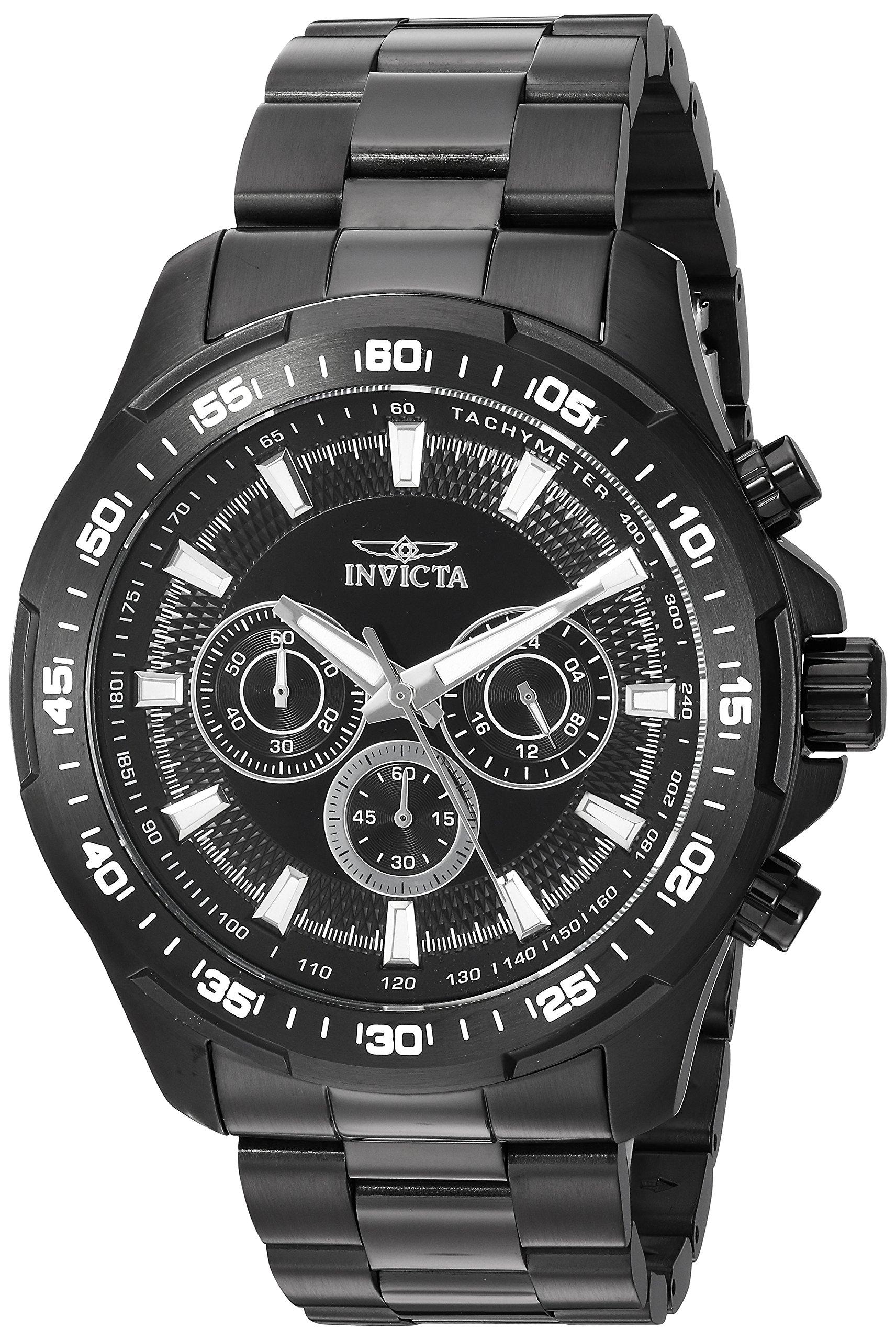 ویکالا · خرید  اصل اورجینال · خرید از آمازون · Invicta Men's 'Speedway' Quartz Stainless Steel Casual Watch, Color:Black (Model: 22785) wekala · ویکالا