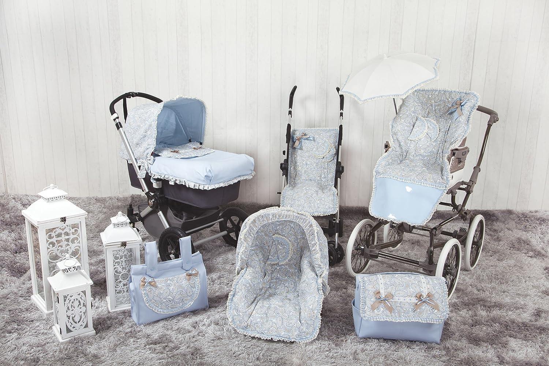 Babyline Caramelo Colchoneta ligera para silla de paseo color azul