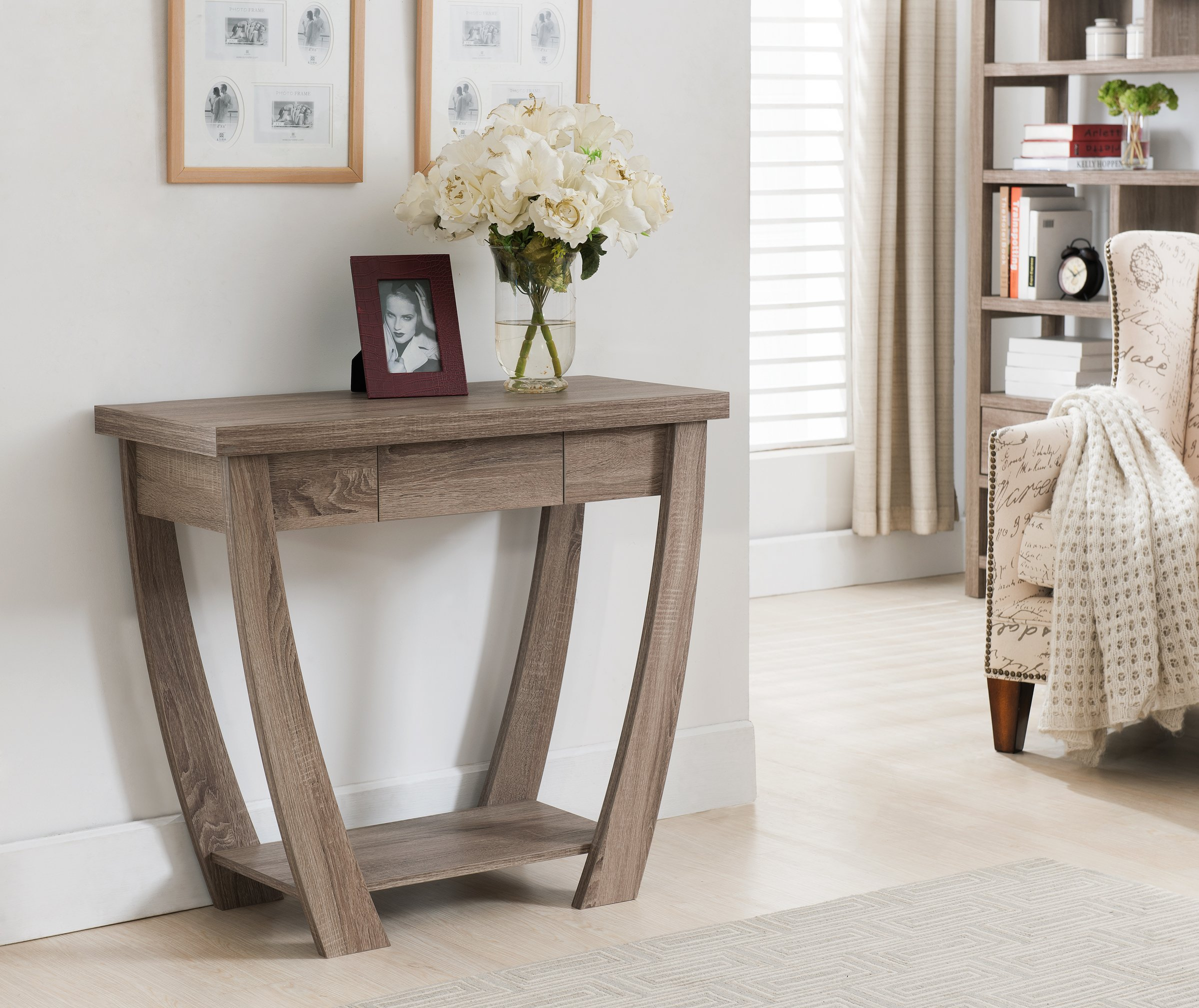 ioHOMES Bond 1 Drawer Console/Sofa Table, Light Oak by HOMES: Inside + Out (Image #2)