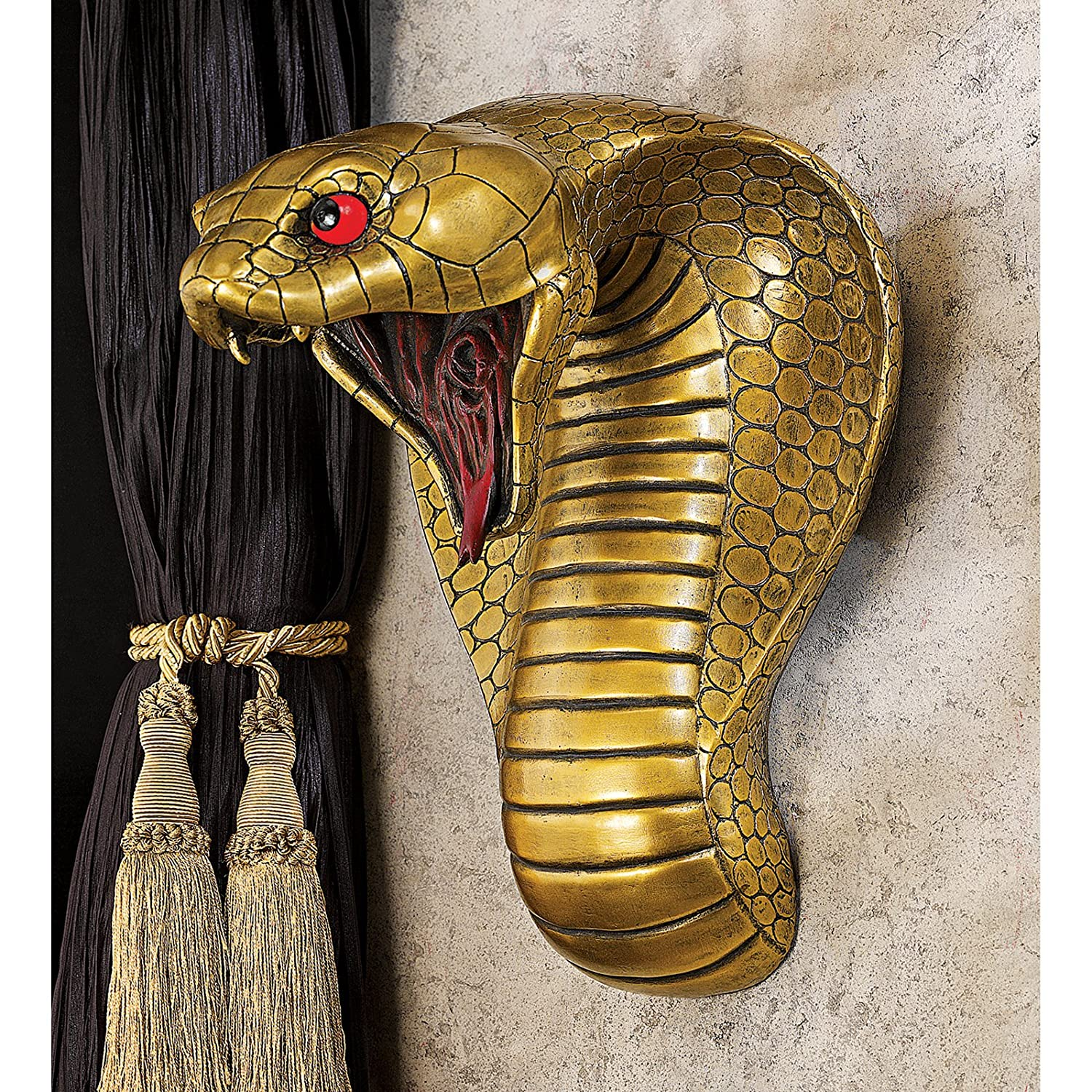 Design Toscano Wall Mounted Egyptian Cobra Goddess Towel Ring Wall Sculpture CL96795 recommend
