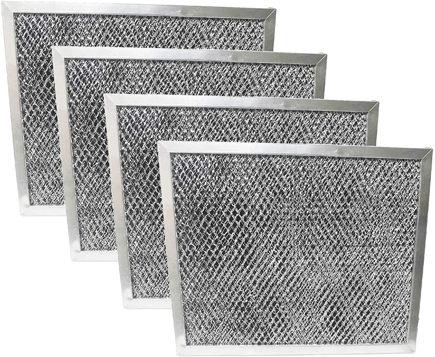 Nispira Replacement Range Hood Grease Filter with Charcoal Compatible with Broan 97007696, S97007696, 6105C, 1172266, 41F. A set of 4 Filters