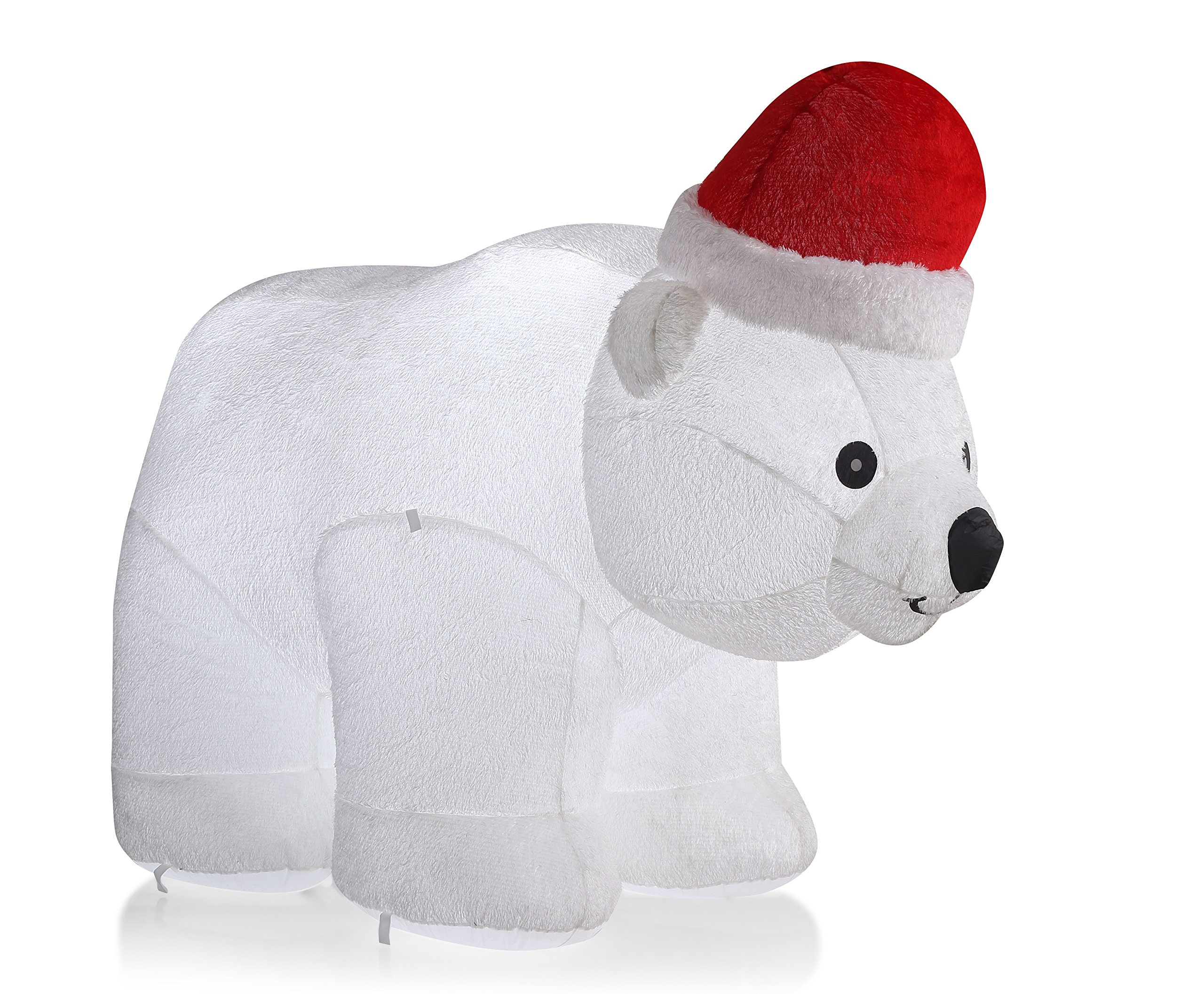 VIDAMORE 6.5 Foot Large Inflatable X-Mas Polar Bear LED Lighted Inflatables Outdoor Holiday Yard Lawn Decorations by Vidamore (Image #3)