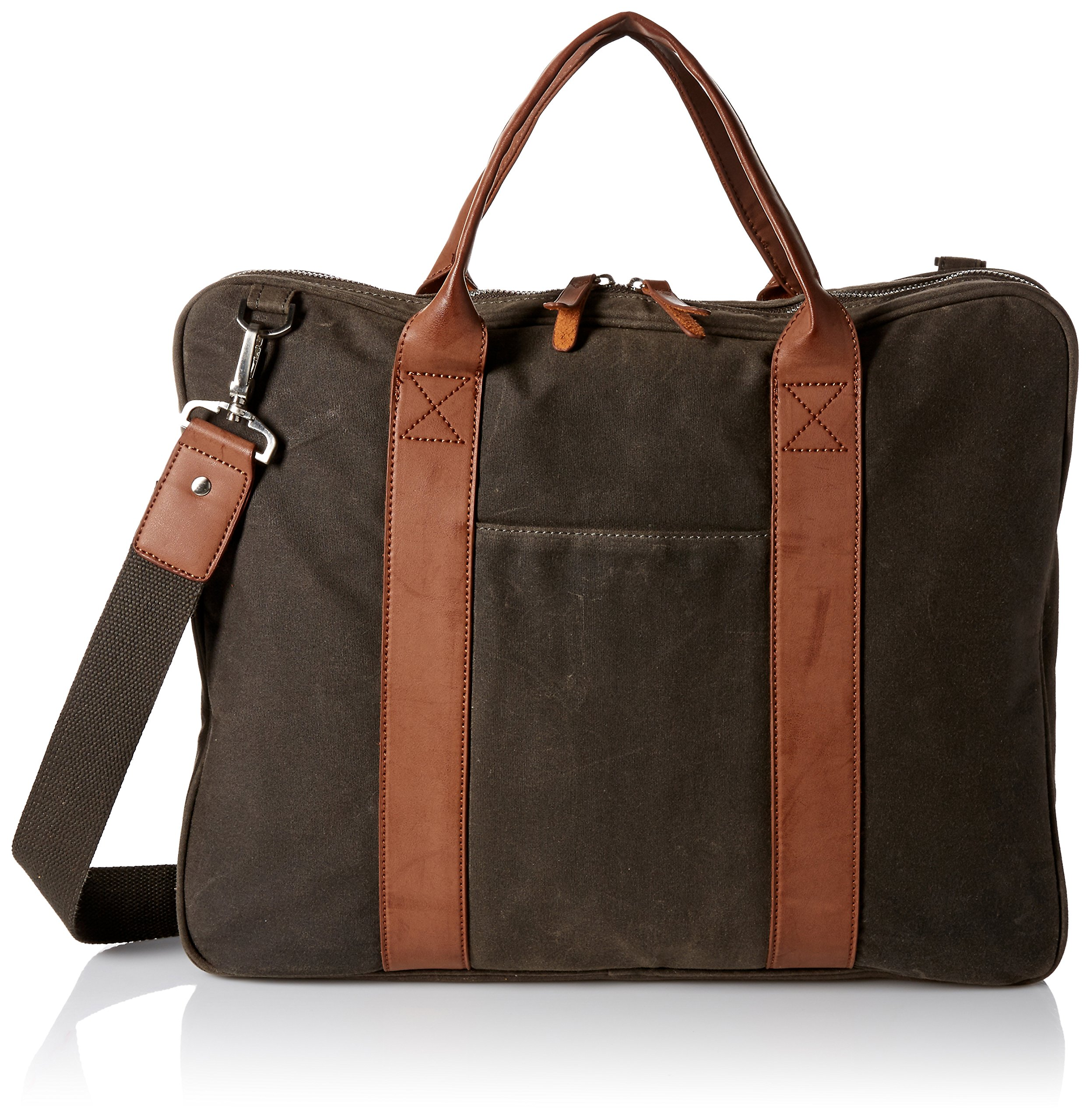 Dopp Men's Canvas Briefcase, Olive