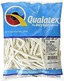 Qualatex 260Q White Pencil Latex Balloons, 100 Pack