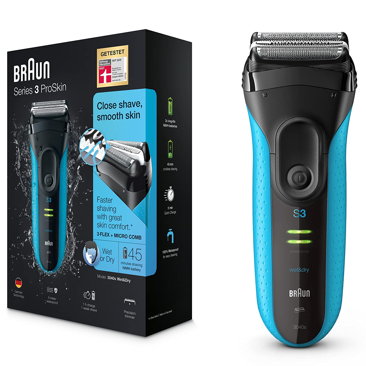 braun series 3 proskin 3040s electric shaver for men review go4amz gadget reviews oral b. Black Bedroom Furniture Sets. Home Design Ideas