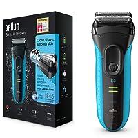 Braun Series 3 ProSkin 3040s wiederaufladbarer Herren Elektrorasierer, Wet und Dry mit Präzisionstrimmer, blau