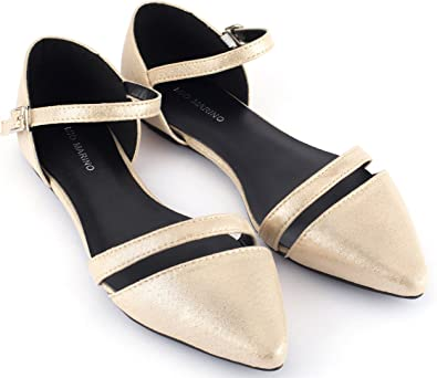5 Color Casual Ankle Strappy Point Toe Fashion Women Ballet Flats Dress Shoes