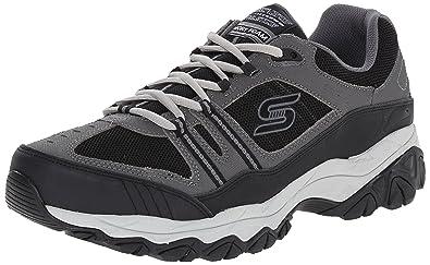 Skechers Memory Foam Afterburn Men's Sneakers Navy Blue/Grey Size 14