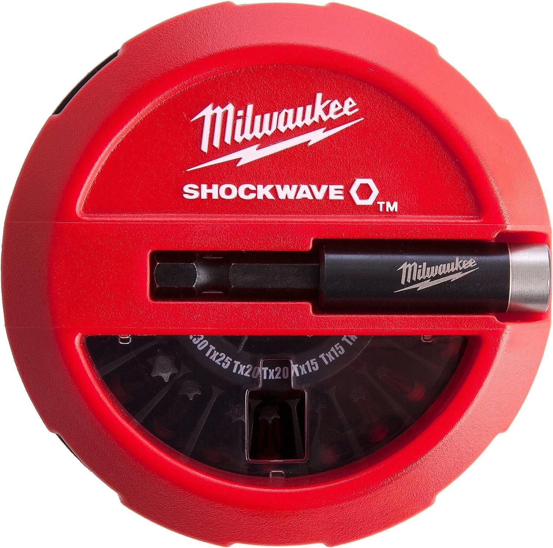 Milwaukee 4002395385669 Coffret Puck Aimanté 15 Pièces Schockwave Multicolore