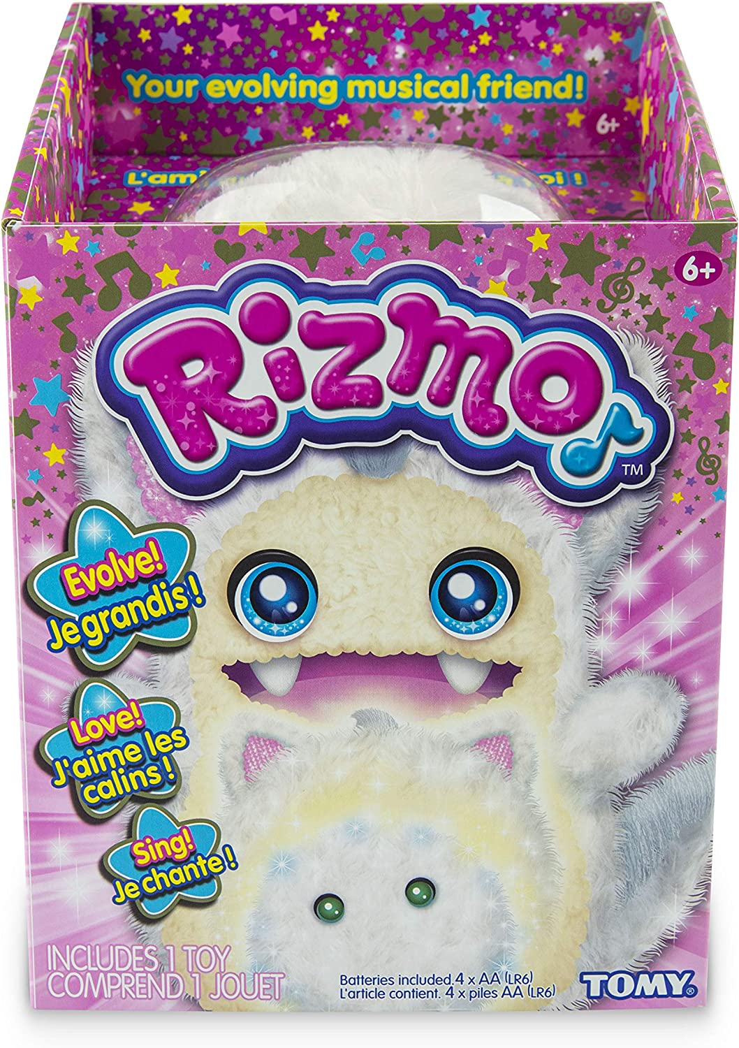 """Rizmo Evolving Musical Friend Interactive Plush Toy with Fun Games /""""Berry/"""""""