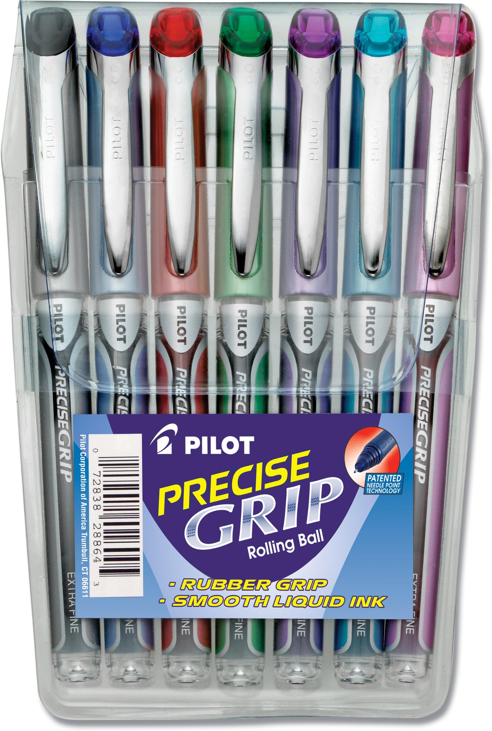 Pilot Precise Grip Liquid Ink Rolling Ball Pens, Extra Fine.