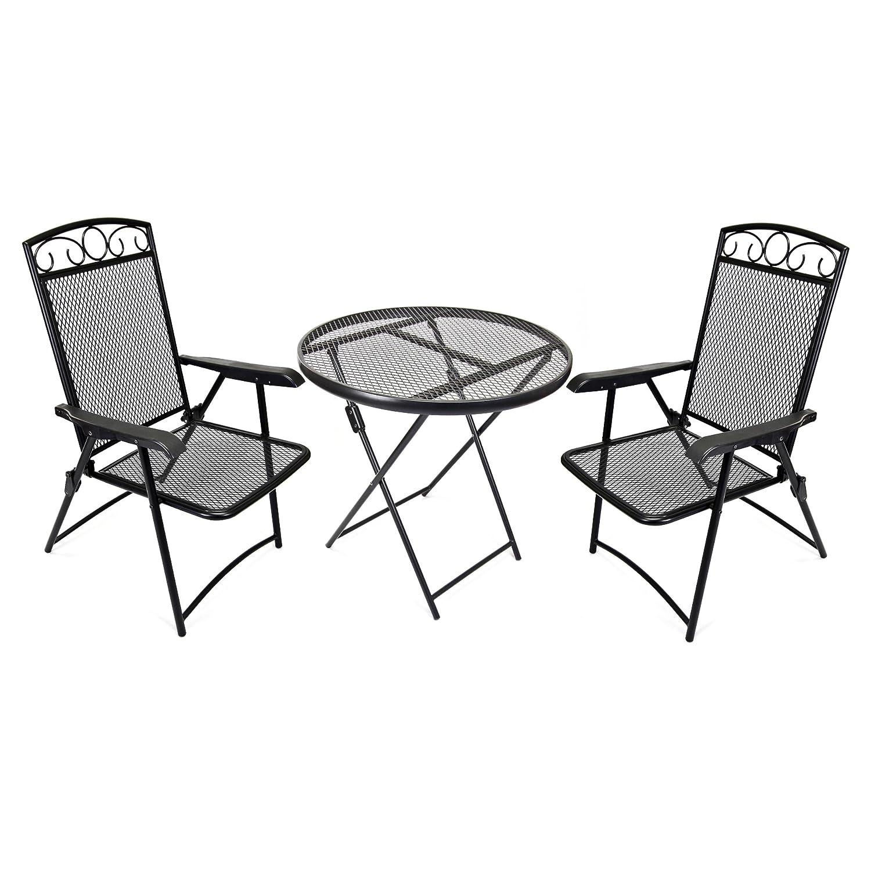 Amazon Wrought Iron Folding Bistro Table & Chair Set