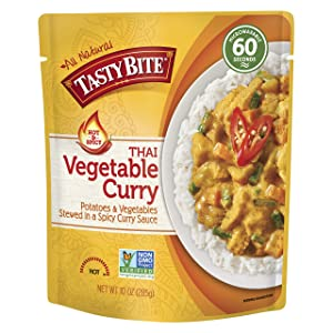 Tasty Bite Thai Entree Hot & Spicy Vegetable Curry, 10 Ounce (Pack of 6)