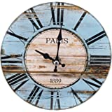 パール金属 卓上 ガラス 時計 置時計 掛け時計 兼用 ROUND 17cm 12A1801-2 N-8193