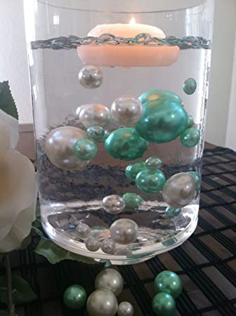 amazon com vase filler pearls for floating pearl centerpiece 50