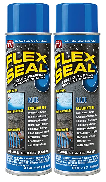 Spray Rubber Seal >> Flex Seal Spray Rubber Sealant Coating 14 Oz Blue 2 Pack