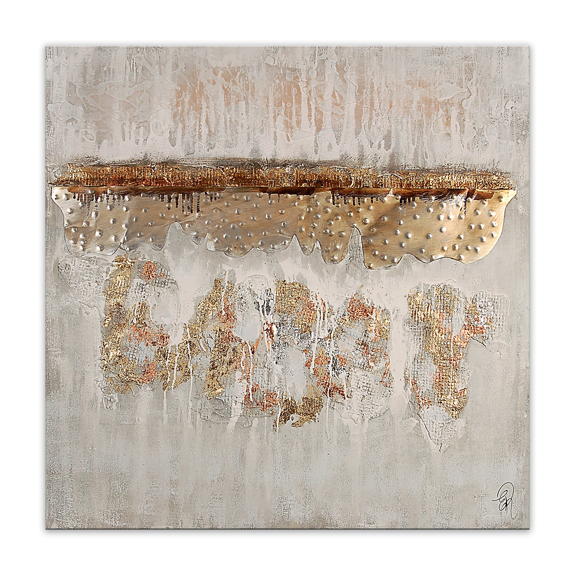 World Art TW60094 Aesthetic Wooden Frame Abstract 100x100x3.5 cm Size: 40 x 40 x 2 Inch