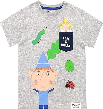 Ben & Holly Camiseta de Manga Corta para niños Gris 5-6 Años: Amazon.es: Ropa y accesorios