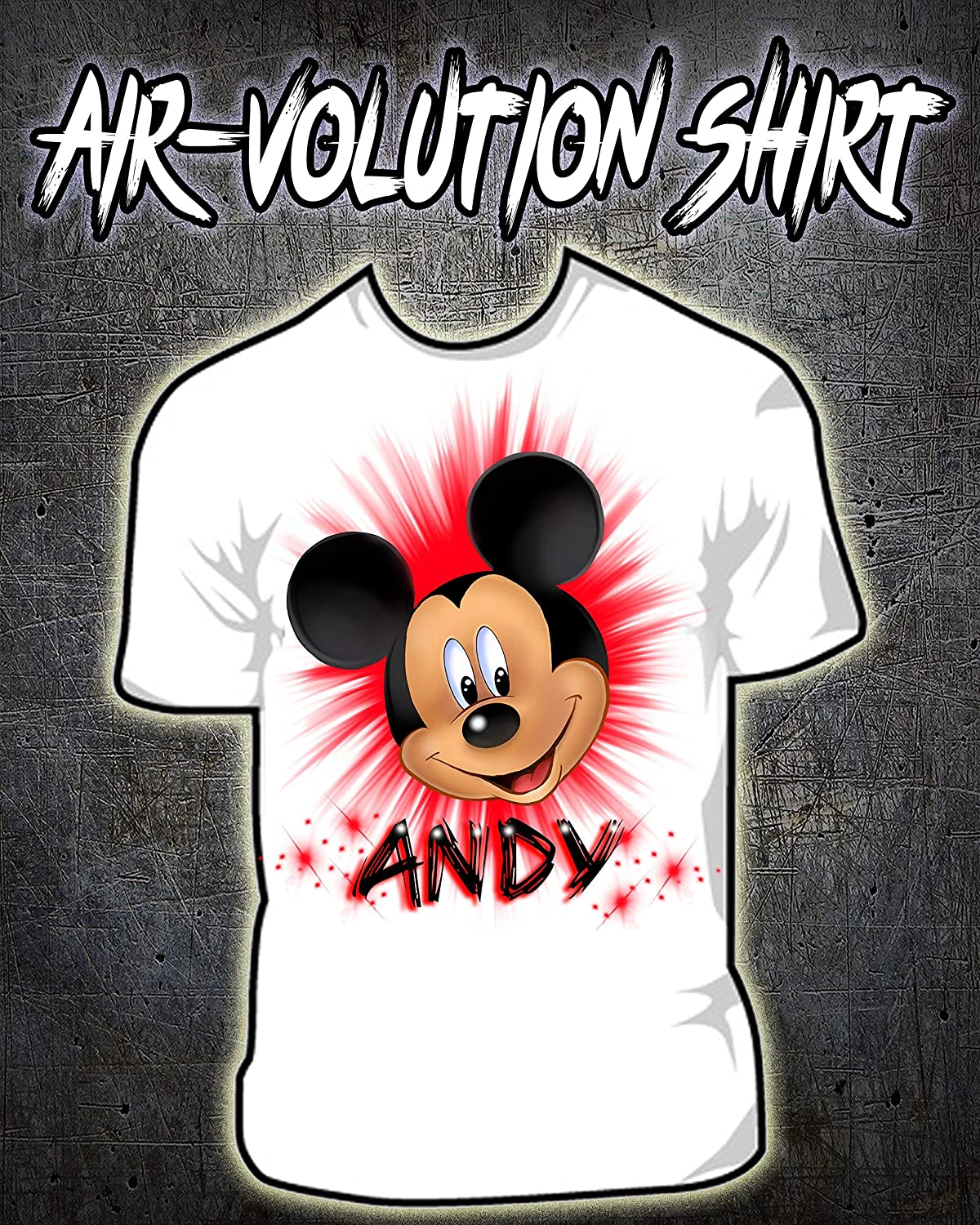 Amazon Personalized Airbrush Mouse Shirt Handmade