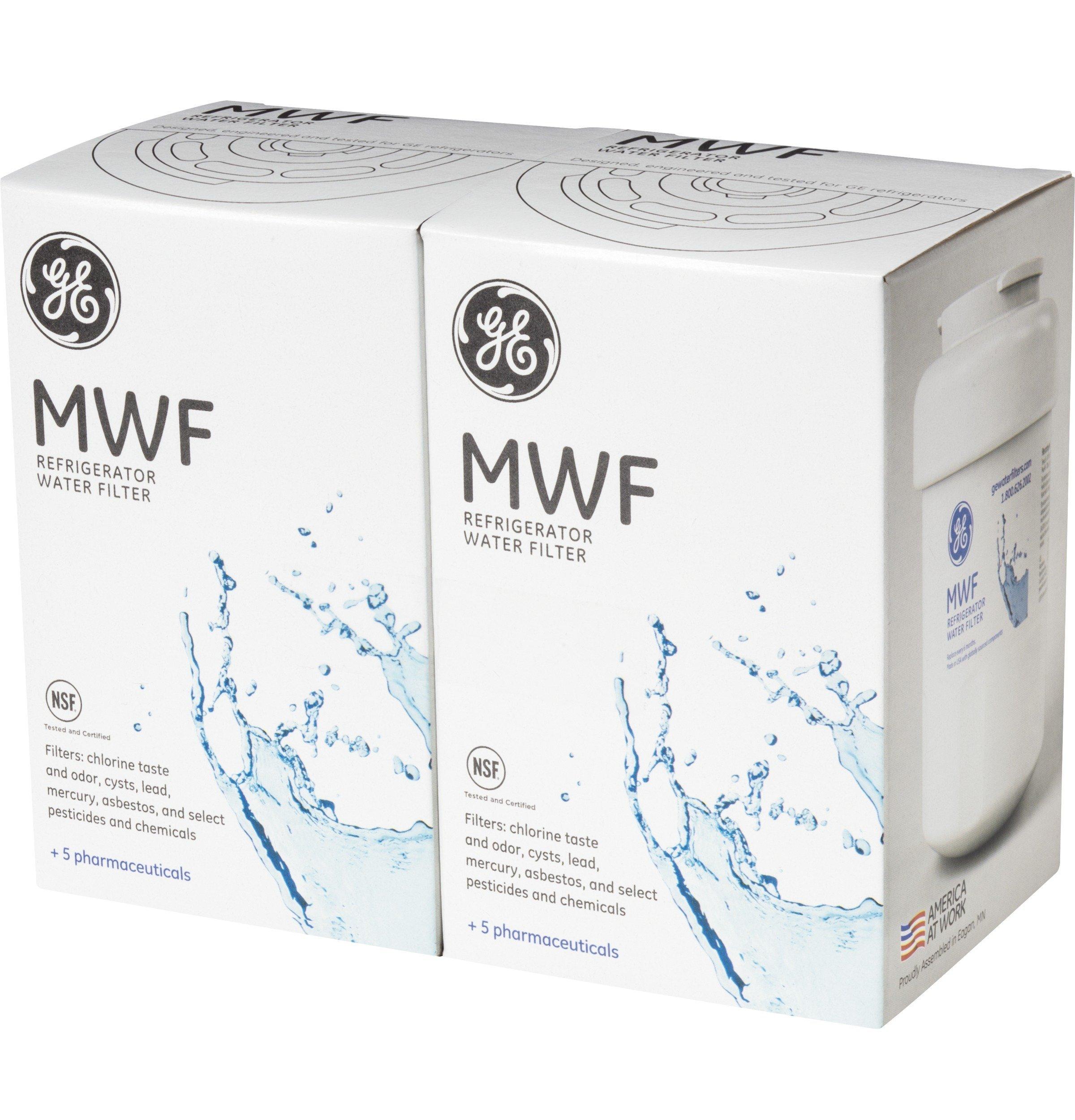 GE SmartWater MWFP Refrigerator Water Filter, 2-Pack