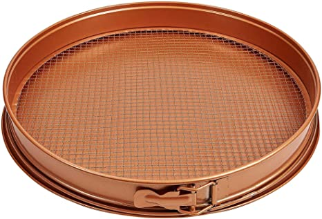 Amazon Com Tristar Products 3 Piece Copper Chef Pan Pizza Grilling Stones Kitchen Dining