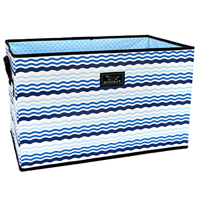 .com - SCOUT Junque Trunk Storage Bin, Extra Large Organizer for Car and Home, Collapsible Storage Bin with Reinforced Bottom in Our French Waviera Pattern (Multiple Patterns Available) -