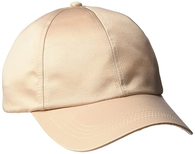 c50d02a04d99 Women s Adjustable Satin Feel Low Profile Baseball Dad Cap Hat ...