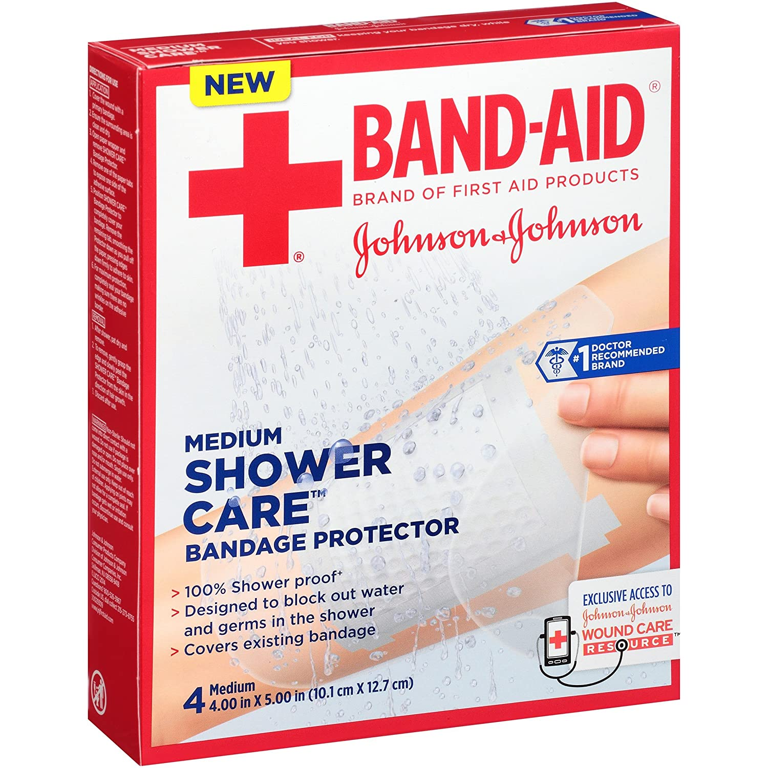 Amazon.com: Band-Aid Brand Of First Aid Products Shower Care Medium ...