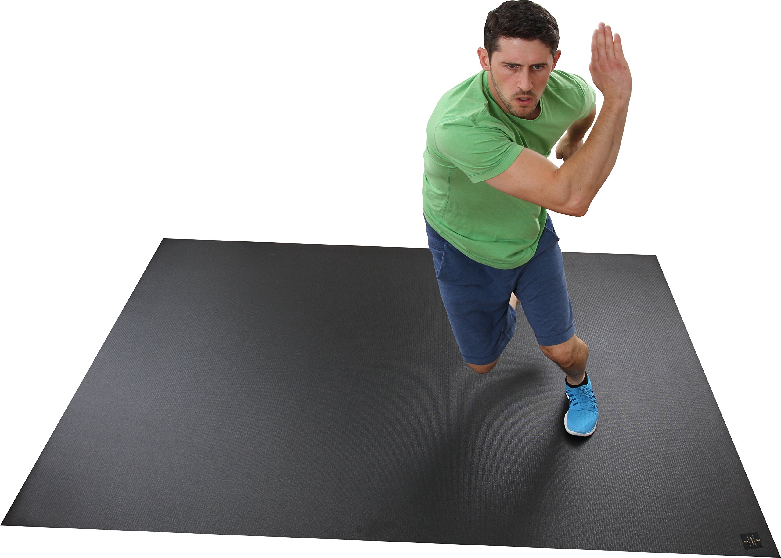 Square36 Extra Large Exercise Mat, 8 x 6-Feet
